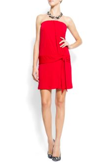 Mango Strapless Dress - Lyst