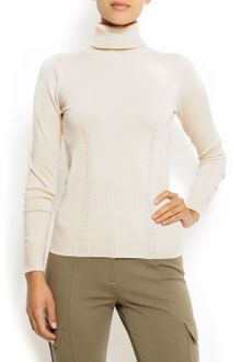 Mango Slim-fit Knit Sweater - Lyst