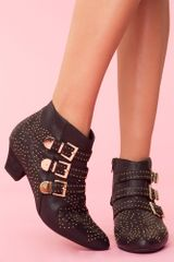 Nasty Gal Starburst Stud Boot in Black - Lyst