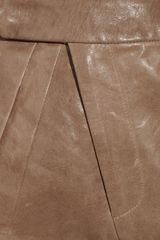 Zero + Maria Cornejo Uma Leather Shorts in Brown - Lyst