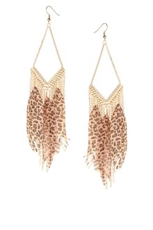 ASOS Collection Asos Feather Drop Earrings - Lyst