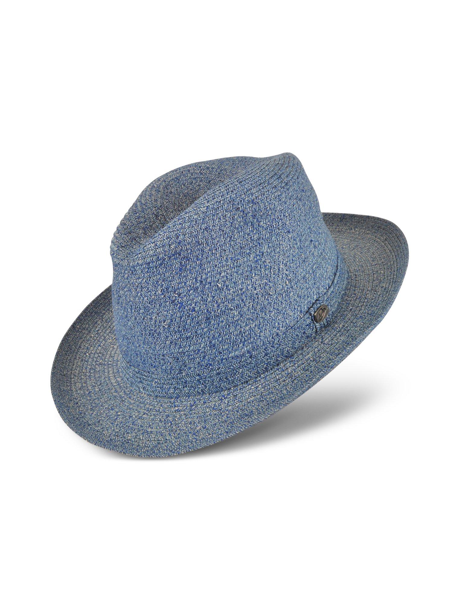 698d425f8cf Borsalino Signature Light Blue Paper Panama Hat in Blue for Men - Lyst