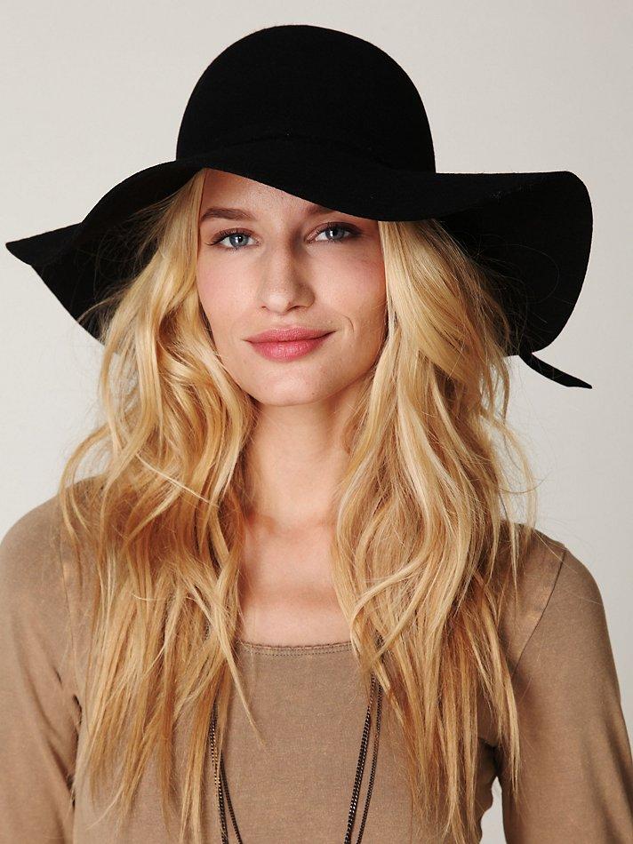 Lyst Free People Jenny Floppy Hat In Black