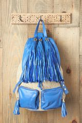 Free People Natural Tassel Backpack - Lyst