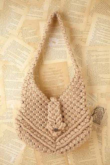 Free People Vintage Macrame Boho Bag - Lyst