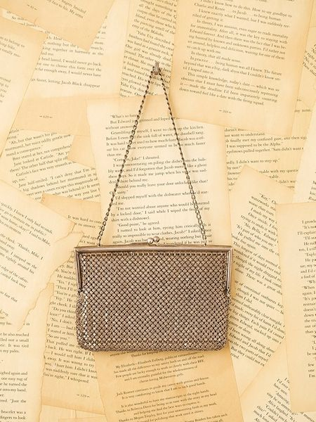 Free People Vintage Metal Mesh Evening Bag in Gold - Lyst