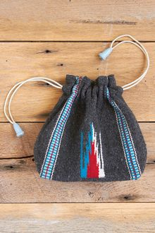Free People Vintage Handwoven Drawstring Wool Bag - Lyst