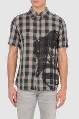 John Galliano Short Sleeve Shirt - Lyst