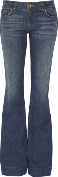 J Brand Lovestory Lowrise Flared Jeans in Blue - Lyst