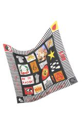 Moschino Peace, Love and Fashion Silk Square Scarf - Lyst