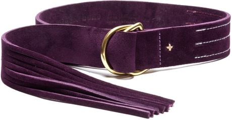 Rag & Bone Wittig Belt  Aubergine in Purple (aubergine) - Lyst
