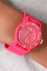 Rumbatime Neon Pink Perry Slap Watch in Pink - Lyst