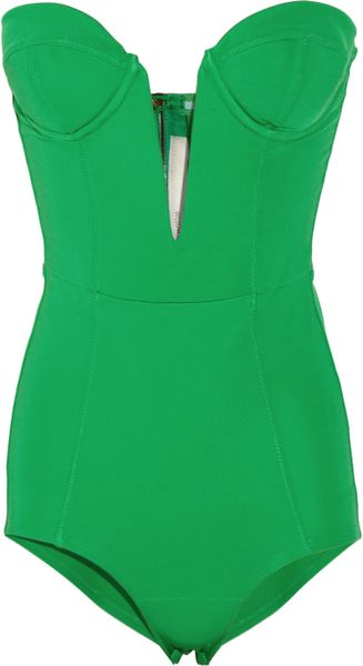 Willow Strapless Stretch Crepe-Jersey Bodysuit - Lyst