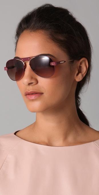 a64afc8d226f Lyst - Chloé Tamaris Aviator Sunglasses in Purple