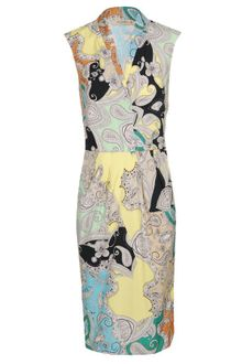 Etro Paisley Printed Stretch Cotton Dress - Lyst
