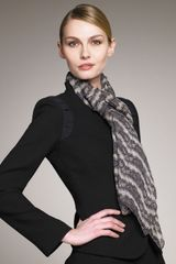 Giorgio Armani Abstract Lace Silk Stole - Lyst