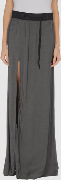 Helmut Lang Long Skirts in Gray (grey) - Lyst