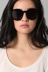 Karen Walker Super Duper Strength Sunglasses in Black - Lyst