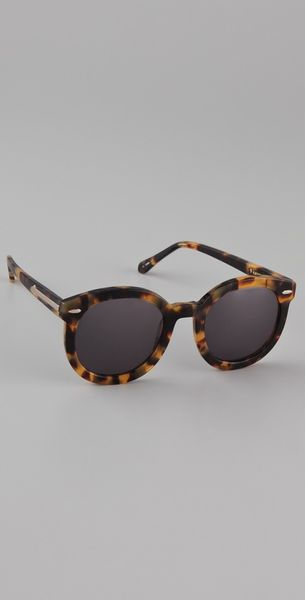 Karen Walker Super Duper Strength Sunglasses Crazy Tort in Animal - Lyst