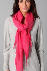 Love Quotes Hand Knotted Tassel Scarf - Lyst