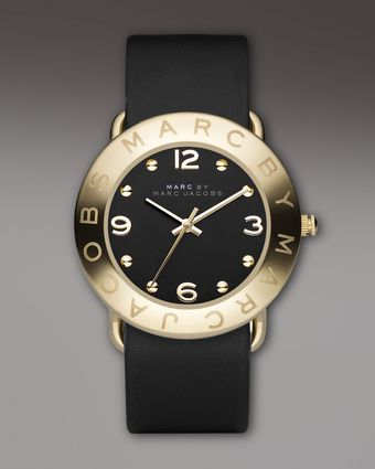 Marc By Marc Jacobs Amy Watch, Black - Lyst