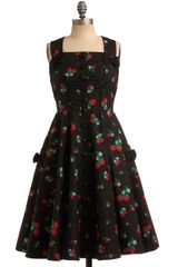 ModCloth Sweet Temptation Dress in Strawberries
