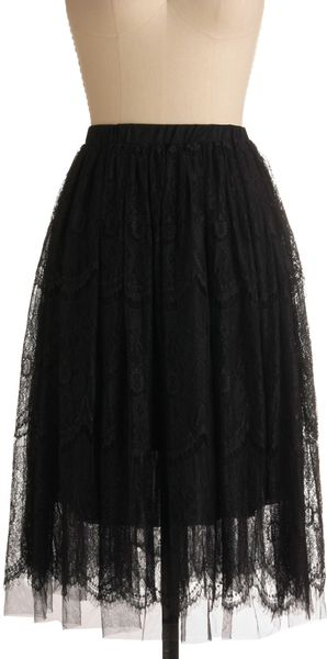 ModCloth Ace Of Lace Skirt - Lyst