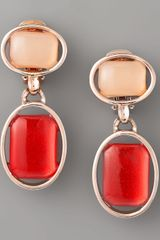 Oscar de la Renta Oval-bezel Cabochon Earrings - Lyst