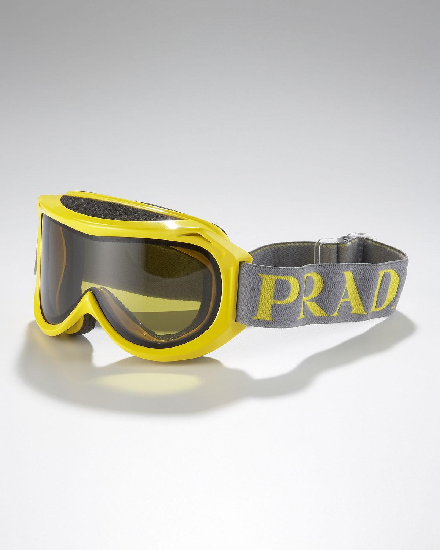 Prada Logo-Strap Ski Goggles in Yellow for Men | Lyst