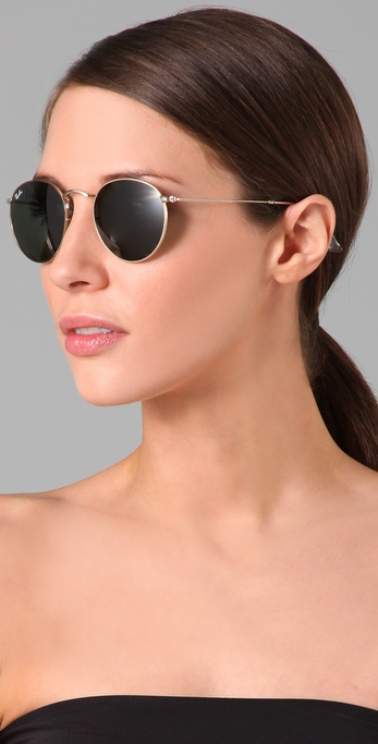 Lyst Ray Ban Retro Round Metal Sunglasses In Metallic