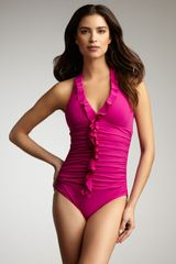 Spanx Ruffled One-piece - Lyst