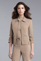 St. John Collection Double-Faced Crepe Jacket - Lyst
