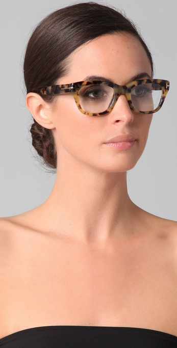 Lyst Tom Ford Square Glasses In Brown