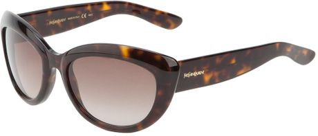 Yves Saint Laurent Acetate Sunglasses in Brown - Lyst