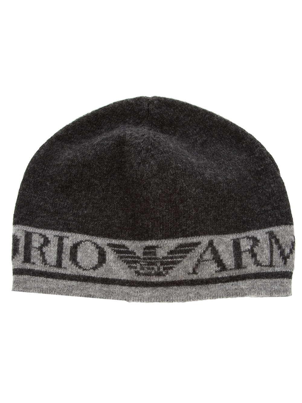 Emporio Armani Beanie Hat in Gray for Men - Lyst d5153ab5e5a