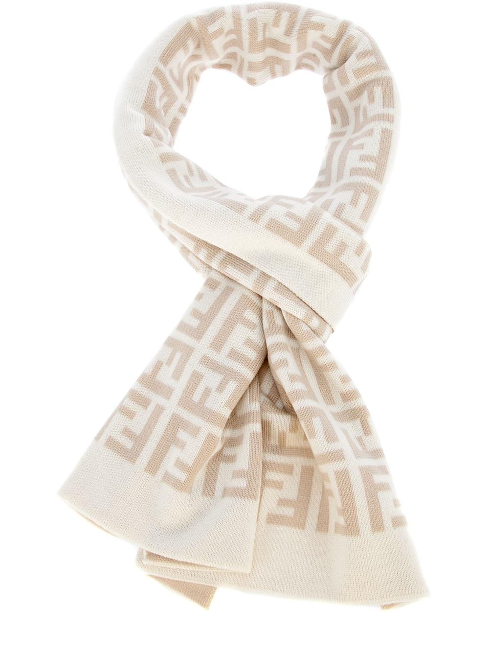 c4d0572847b ... czech fendi monogram scarf in natural for men lyst 58432 dfe50 reduced  fendi 15480 stripes scarf ff zucca logo ...