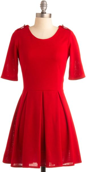 Modcloth Ladylike in Red Dress in Red