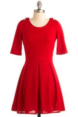 ModCloth Ladylike in Red Dress