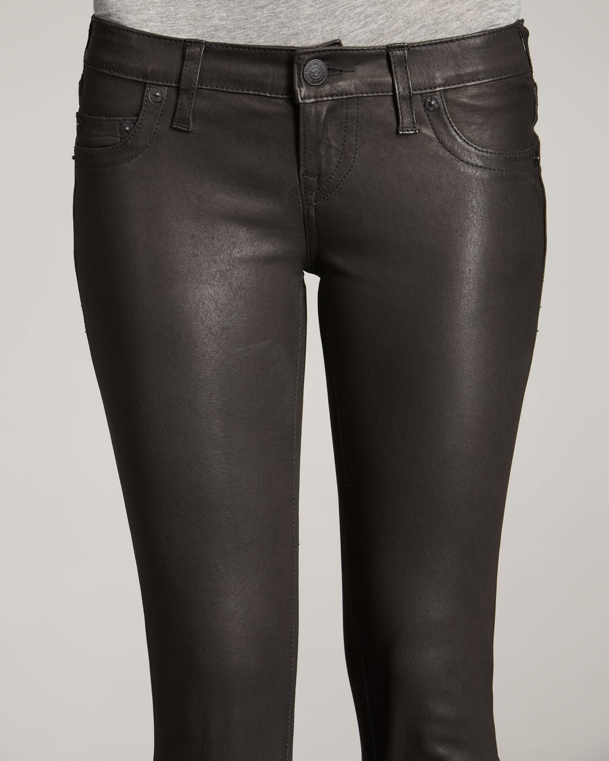 True religion Casey Leather-look Leggings, Black in Black | Lyst
