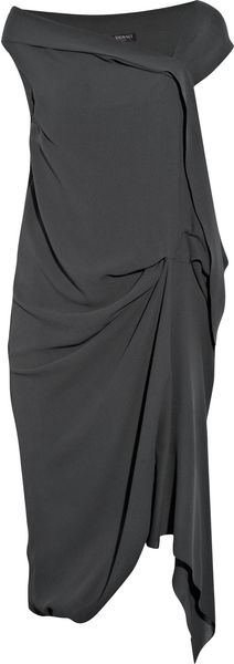Vionnet Asymmetric Stretch Silk-crepe Dress - Lyst