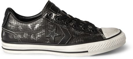 Converse John Varvatos Metallic Snakeskineffect Sneakers in Black for Men - Lyst