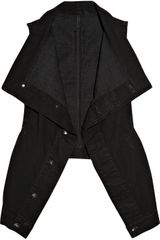 DRKSHDW by Rick Owens Draped Denim Vest - Lyst