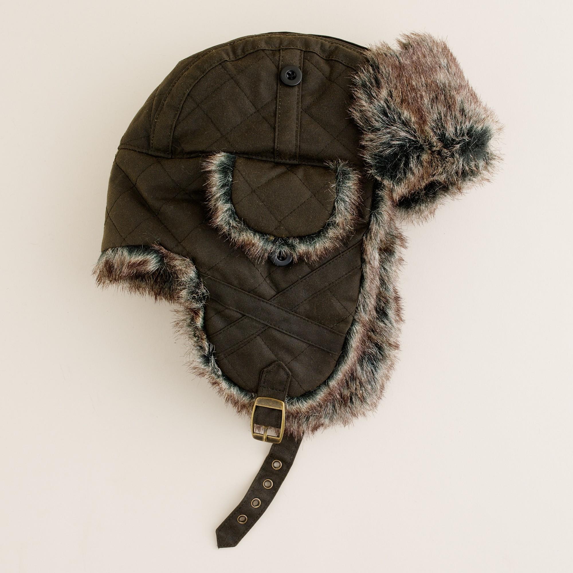 Lyst - J.Crew Barbour® Trapper Hat in Green for Men 12da2ef39f0
