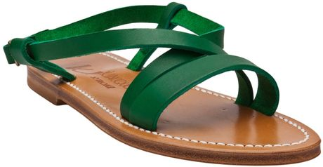K. Jacques Flavia CrissCross Sandal in Green - Lyst
