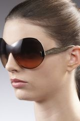 Miu Miu P-rounded Shield Sunglasses - Lyst