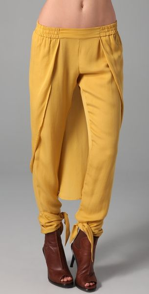 Sass & Bide Cause & Effect Pants in Yellow (mustard) - Lyst