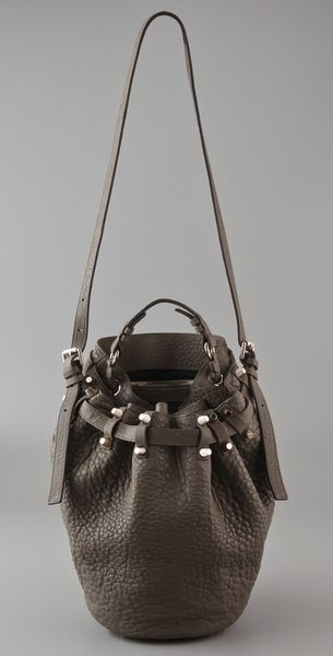Alexander Wang Diego Bucket Bag in Gray (sage) - Lyst