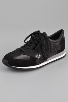 Alexander Wang Dillon Paneled Perch And Suede Sneakers - Lyst