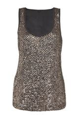 Harrods Sequin Shell Top - Lyst