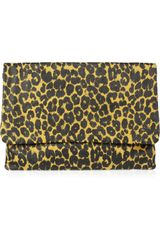 Jas Mb Lisa Leopard-Print Leather Clutch